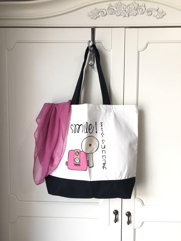Smile it's Sunnah - Pink Tote bag.