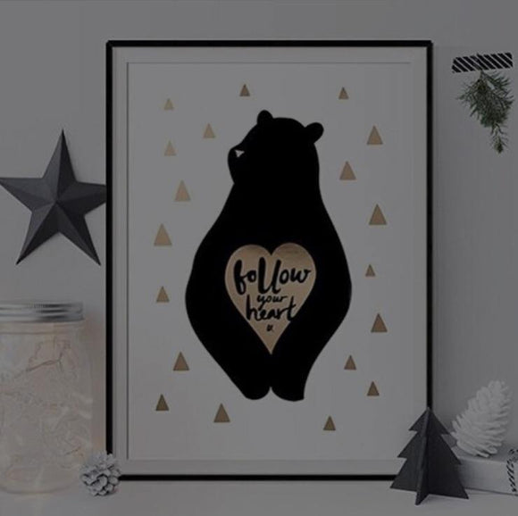 Follow Your Heart - A3 Gold Foil Art print