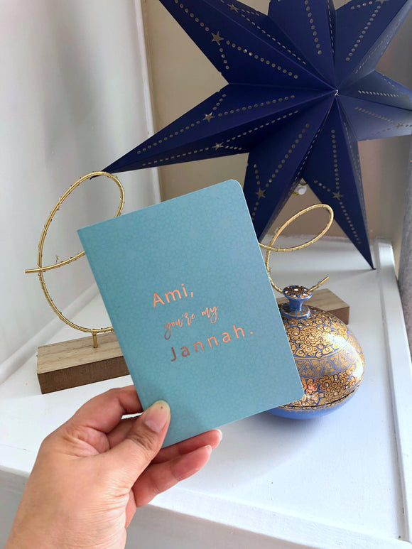 Ami Foiled Notebook - Silver Lining UK