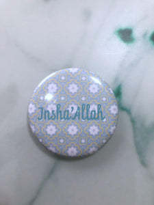InshaAllah Fridge Magnet - Silver Lining UK