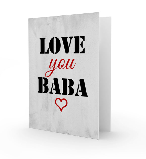 Love you BABA Greeting Card
