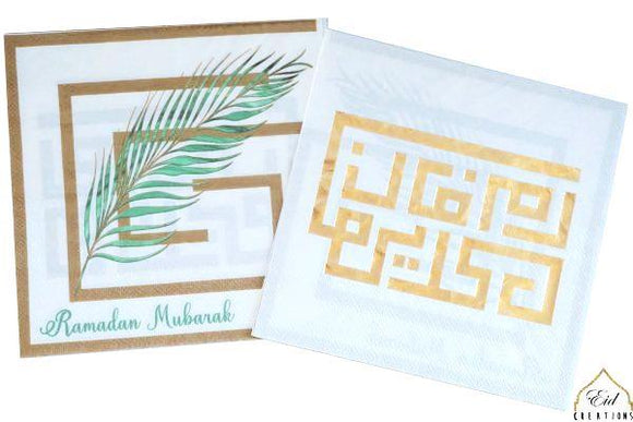 Kufic Key and Palm Napkin