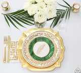 KUFIC KEY malachite Palm Dessert Plates