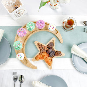 Crescent Moon & Star Serving Platter