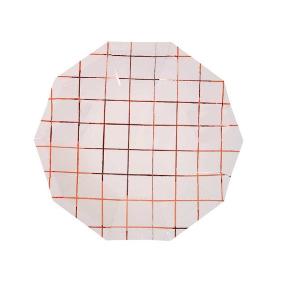 Small Rose Gold Grid Plate