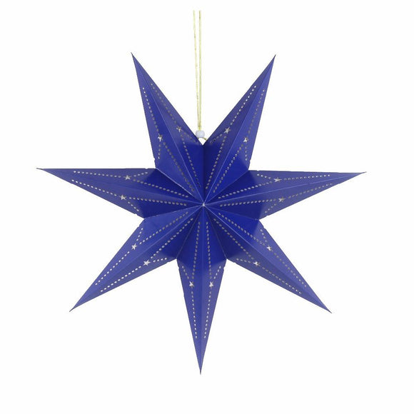 Large Star Lantern - Navy