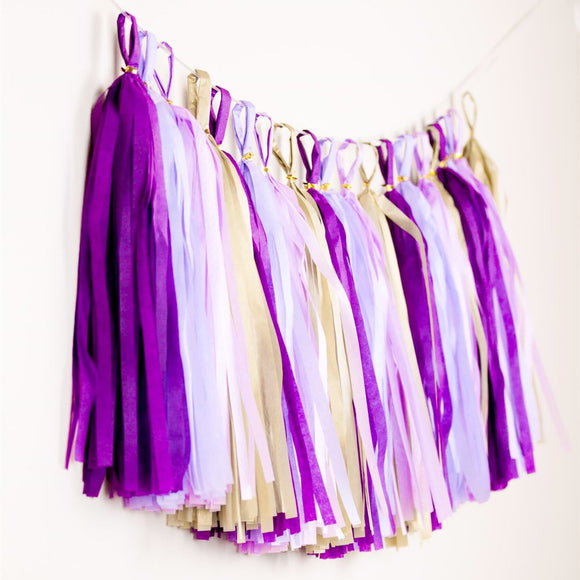 Tassel Garland - Purple