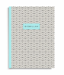 Bismillah Geometric Turquoise- A5 Notebook