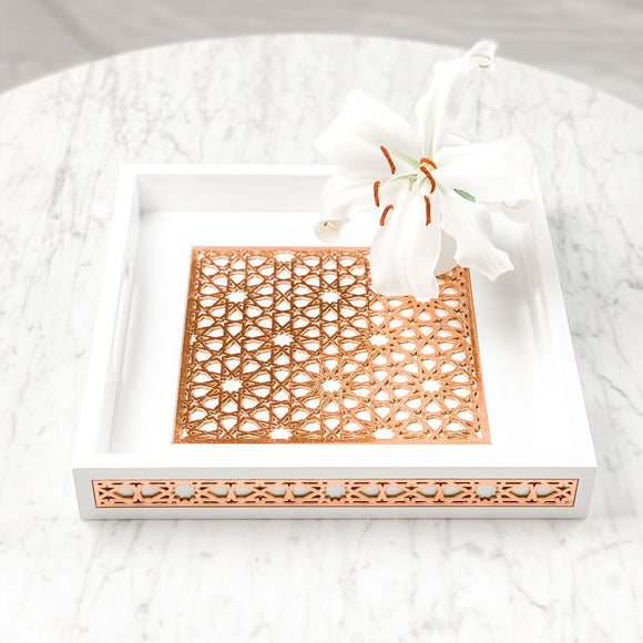 Luxury Geometric Tray - Square