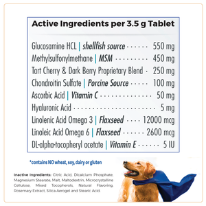 WagWorthy Naturals Advanced Formula Hip + Joint Supplement for Dogs, 60 chewable tablets