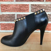 Load image into Gallery viewer, Valentino Rockstud Leather Black Ankle Boots Booties size 37 ( 7)