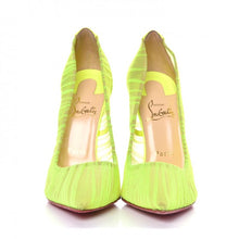 Load image into Gallery viewer, Christian Louboutin Chiffon Follies Draperia Neon Pumps size 37