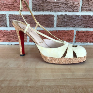 ON SALE- Christian Louboutin Red Bottom Suede Cutout Pumps size 9.5/10