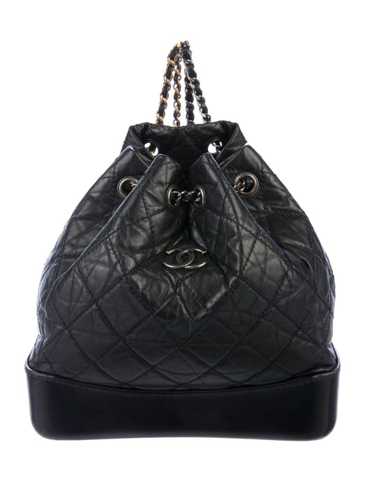 Chanel 2019 Small Gabrielle Leather Backpack