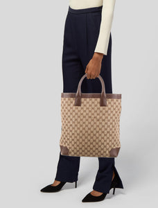 Gucci Top Handle GG Canvas Tote