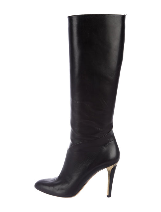 Jimmy Choo Leather Knee-High Boots size 36.5