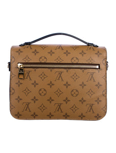 2019 Louis Vuitton Reverse Monogram Pochette Metis Crossbody Bag