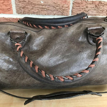 Load image into Gallery viewer, Balenciaga Leather Motocross City Brown Satchel