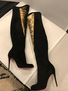 Christian Louboutin Siegfridalta  Over The Knee Suede Boots