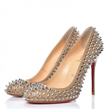 Load image into Gallery viewer, Christian Louboutin Nappa Fifi Spikes size 7