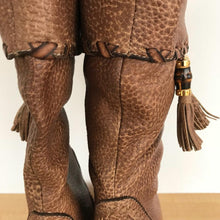 Load image into Gallery viewer, Gucci tasseled leather mid-calf boots size 7.5