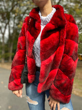 Load image into Gallery viewer, Rex Rabbit Fur Coat Authentic