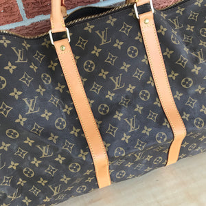 Louis Vuitton Monogram Keepall 60 Bandouliere Travel Carry On Bag