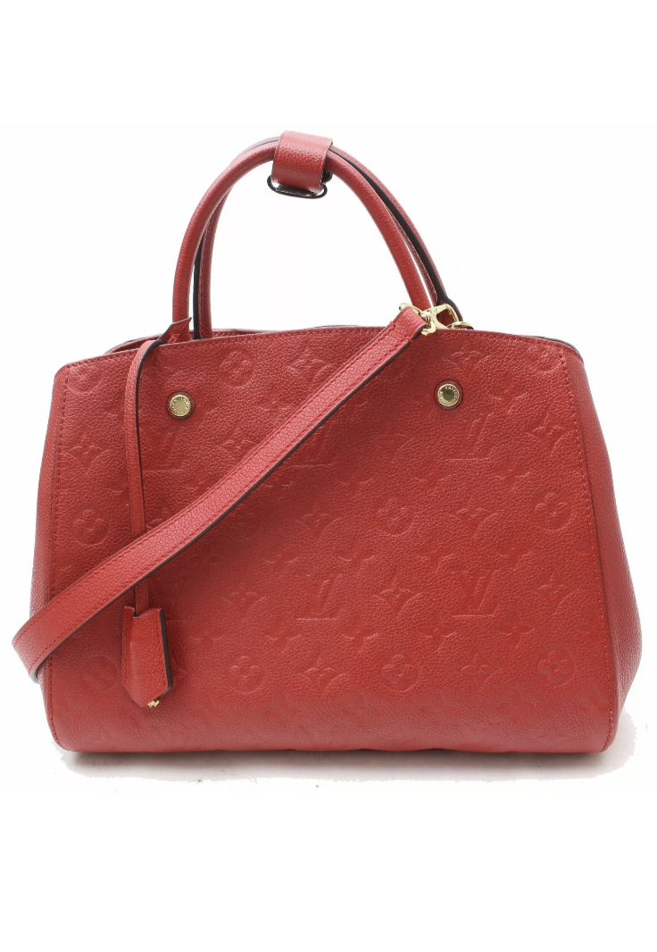 2016 Red Louis Vuitton Empreinte Montaigne MM