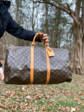 Louis Vuitton Monogram Keepall Bandouliere 55 Duffle Travel