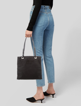 Load image into Gallery viewer, PRADA Leather-Trimmed Tessuto Tote