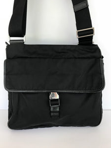 Prada Tessuto Black Nylon Messenger Bag