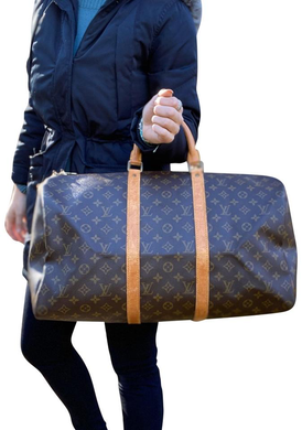 Louis Vuitton Monogram Keepall Bandouliere 50 Travel Duffle