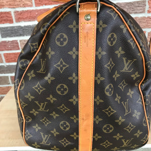 Louis Vuitton Monogram Keepall 55 Bandouliere Travel Carry On