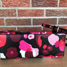 Load image into Gallery viewer, Kate Spade Lilah Laurel Way Wonder Multicolor Floral Pink/Black/Red/White Saffiano Leather Satchel