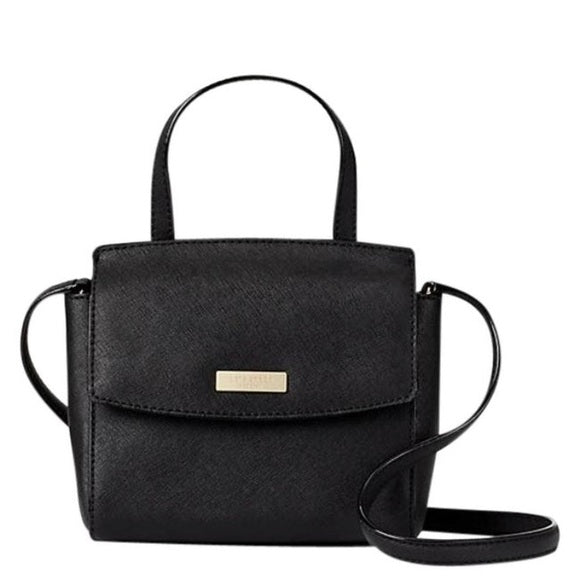 Kate Spade Laurel Mini Black Leather Cross body Satchel