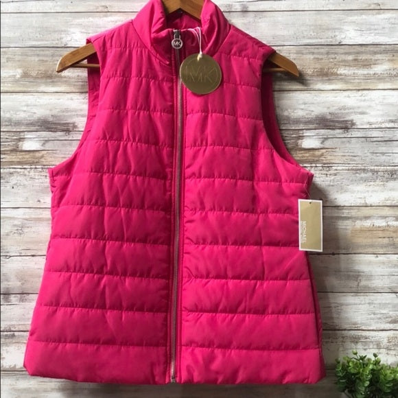 Michael Kors Electric Pink puffer Vest