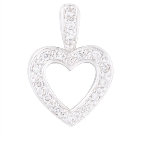 18k Gold Diamond Small Heart Pendant