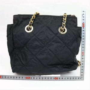 Prada Tessuto Quilted with Chain Black Nylon Shoulder Bag
