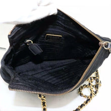 Load image into Gallery viewer, Prada Tessuto Quilted with Chain Black Nylon Shoulder Bag