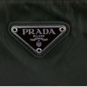 ON SALE Prada Mini Tessuto Messenger Bag Olive Green