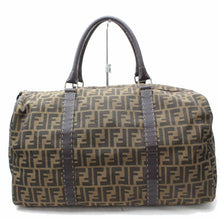 Load image into Gallery viewer, FENDI Brown Zucca Nylon Boston Travel Bag