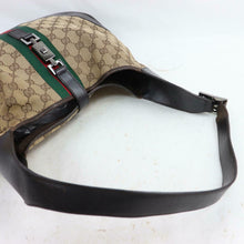 Load image into Gallery viewer, GUCCI GG Canvas Web Jackie Shoulder Bag