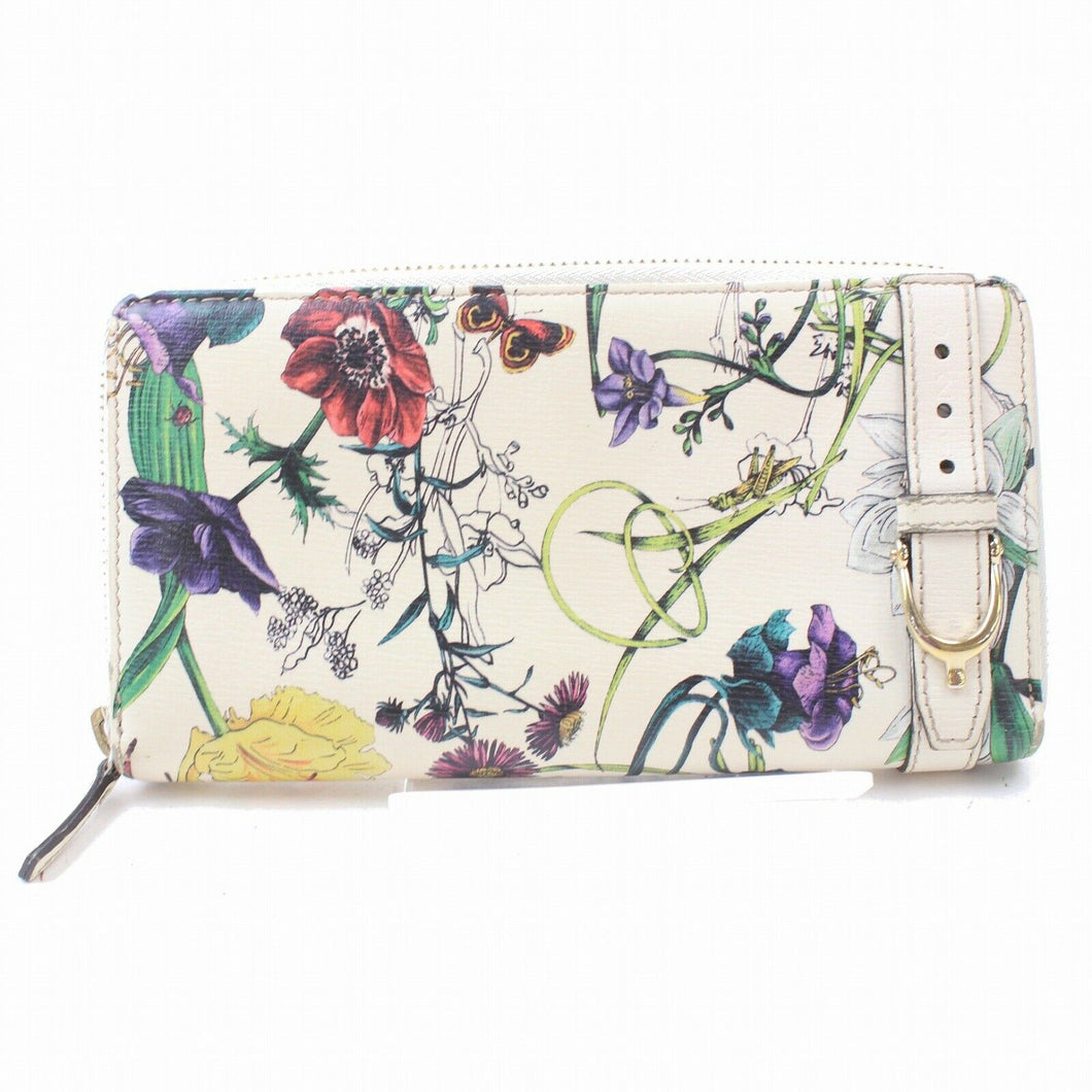 Gucci Floral Zip Around Wallet