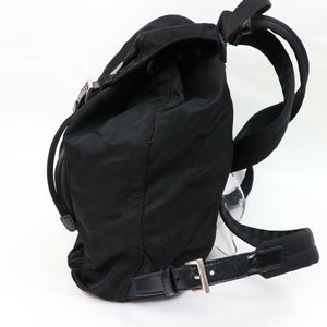 ON SALE- Prada Leather-Trimmed Tessuto Backpack