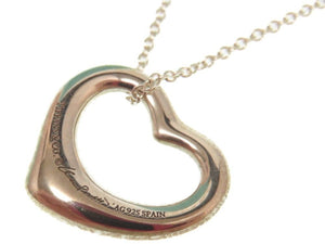 TIFFANY&Co Open Heart Silver Necklace