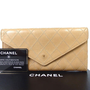 Chanel Bicolore Folded Wallet Ladies Leather Coco Mark