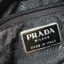 Load image into Gallery viewer, Prada Black Leather-Trimmed Tessuto Backpack