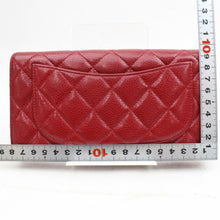 Load image into Gallery viewer, CHANEL Quilted Caviar Yen Wallet