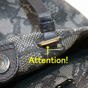 VALENTINO Black Lace Shoulder Bag