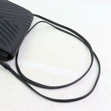 Load image into Gallery viewer, VALENTINO Black Leather Ripple Effect Crossbody